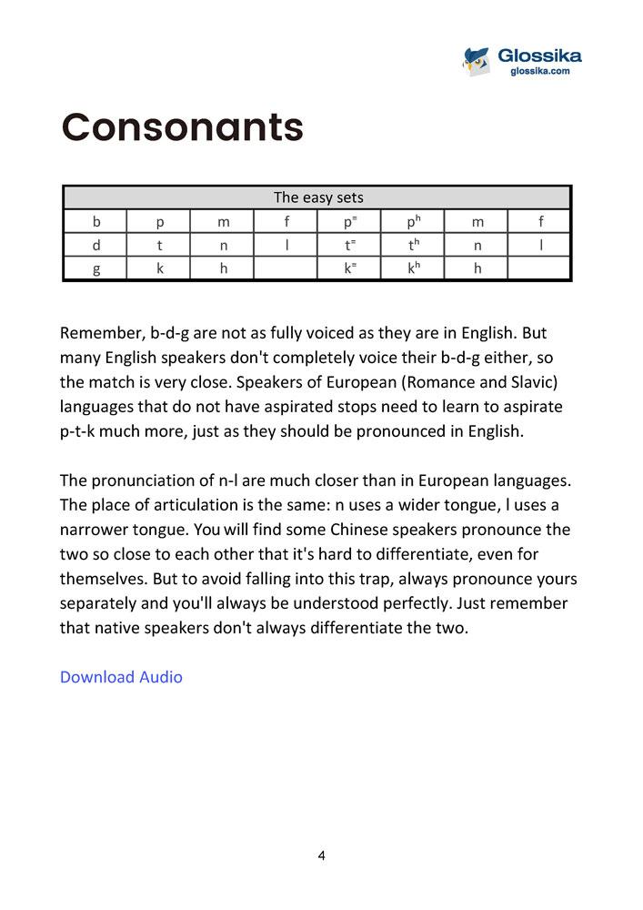 Glossika Chinese Pronunciation & Tone Training-2